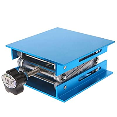 """YUNAWU 4""""x4"""" Aluminum Router Lift Table Woodworking Engraving Lab Lifting Stand Rack"""