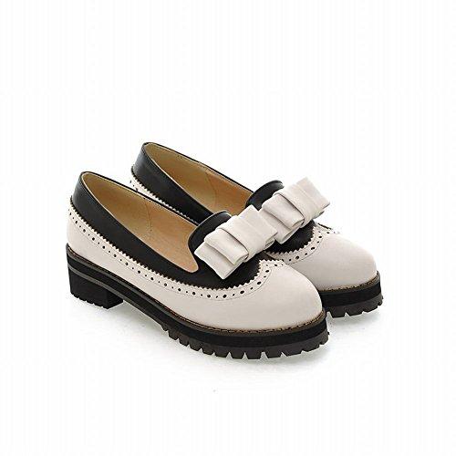 Pumps Frauen Farben Shoes Patterns Hollow Carol White Bögen für Verschiedene x8UC6Cq