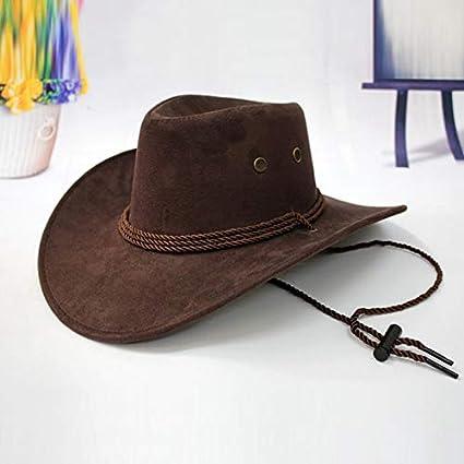 3d37497185efe2 Amazon.com: VT BigHome Western Cowboy Hat Men Riding Cap Fashion Accessory  Wide Brimmed Crushable Crimping Gift: Kitchen & Dining