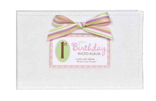 Baby's First Birthday Photo Album - 1st Birthday Girl Brag Book Grandparent Gift Co