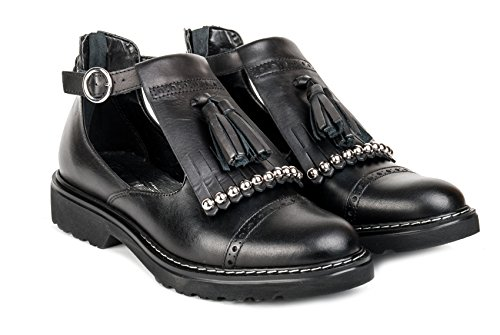Cult Calzature Black Pe17 Cle102859 Donna Leather 6Z7q6aw