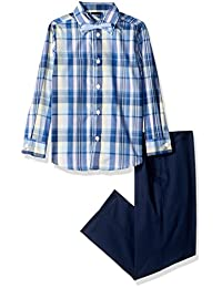 Nautica boys Three Piece Dresswear Set With Shirt, Pant and Bowtie