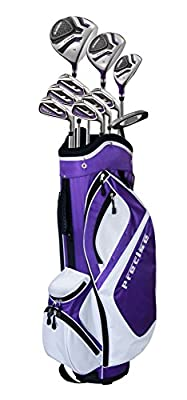 Ladies Petite Complete Women's Golf Club Set with Deluxe Cart Bag (Ladies, Right Hand, -1-inch, Purple)