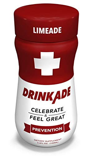 DrinkAde Hangover Prevention Hydration & Liver Detox (6 Pack) with Electrolytes, Vitamin B, Milk Thistle, Only 5 Calories, No Sugar, Caffeine-Free, Vegan, Non-GMO