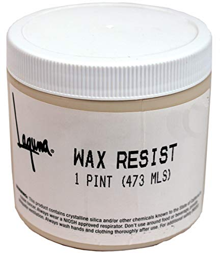 (Wax resist pint by Laguna Clay)