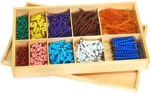 Montessori Caja con Bolas de Colores Matematicas: Amazon.es: Juguetes y juegos