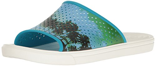 Crocs Men's Citilane Roka Tropical Slide M Flat, Electric Blue/White, 5 M - Roka Blue