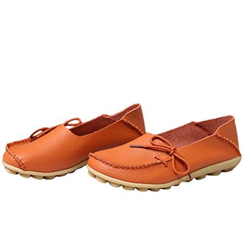 Vogstyle - Zapatillas de casa Mujer Estilo 1-Naranja