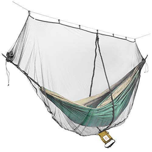 Cushy Camper Hammock Bug Net/Mosquito Net with Dual Side Zippers for Single/Double Hammocks – Camping Gear: Ultralight Bug Proof Netting – Insect/Fly Screen Shelter – Hammocking Nets & Accessories
