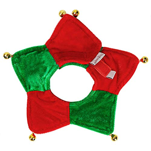 QBLEEV Cat Scarf Jingle Bells Pet Small Dog Silk Christmas Bandana with Bell,Red-Green Triangle Adjustable Collars Neckerchief,Festival Accessories for Small Puppies Collegiate Striped Dog Sweater