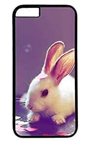 Cute Rabbit Nice PC Black Case for Masterpiece Limited Design iphone 6 by Cases & Mousepads
