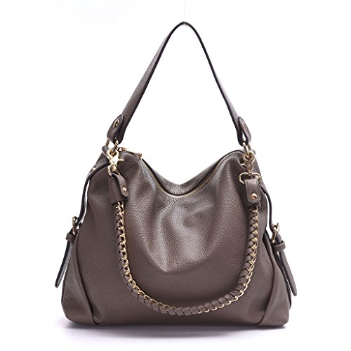 Leather Tote Bag,DDDH Hobo Bags Purses Shoulder Handbag For Women(Grey)