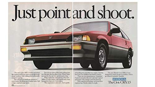 Civic Crx Driver - Magazine Print Ad: Red 1984 Honda Civic CRX 1.5,