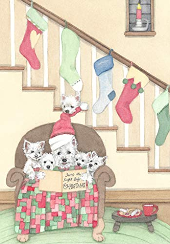 (12 Christmas Cards: West Highland Terriers (Westies) Share Christmas Eve Bedtime Story/Lynch Folk Art)