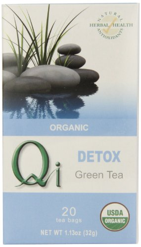 Green Thistle (Qi Organic Detox Green Tea, 20-Tea Bags, 1.13-Ounce (Pack of 6))