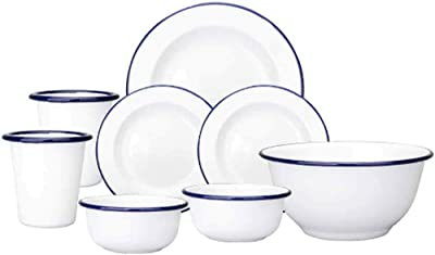 Tableware 8-Piece Dinnerware Sets Round Dinner Plates Kitchen Crafts for Home