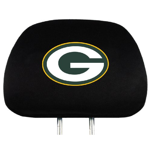 (NFL Green Bay Packers Head Rest Covers, 2-Pack)