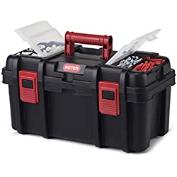 "Keter Classic Tool Box 19"" Plastic Portable Organizer Tool Box Storage Solution"