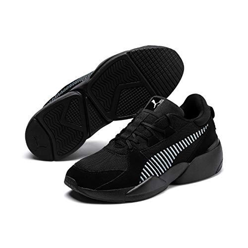 Puma Unisex Adults' Zeta Suede Low-Top Sneakers, Black-Light Sky, 6 UK