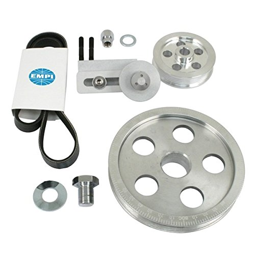 EMPI 17-2811 Polished Aluminum Serpentine Pulley System with - Import It All