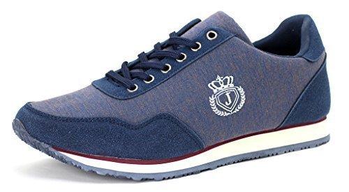 Hombre De Lona Zapatillas Casual Zapatos Con Cordones Correr Caminar Zapatillas Azul Marino