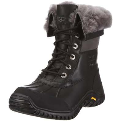 UGG Women's Adirondack II Winter Boot, Black/Grey, 5 B US