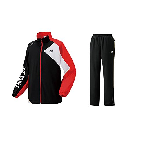 YONEX 裏地付ウィンドウォーマーシャツパンツ上下セット 70057-80057 SS ブラック(007) B077999MP5