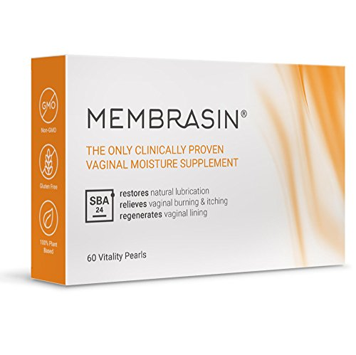 Membrasin for Vaginal Dryness - 100% Natural Moisture Supplement - Clinically Proven to Restore Natural Lubrication and Relieve Dry Vagina Burning and Itching - Safe Lubricant for Women and Menopause