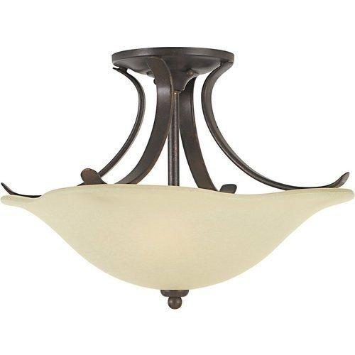 Murray Feiss SF213 Grecian Bronze Morningside 2 Light Wrought Iron Semi-Flush -by# buildinc - Morningside Ceiling Lighting