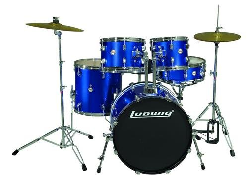 Ludwig Accent Fusion Drum Set with Hardware & Cymbals (De...