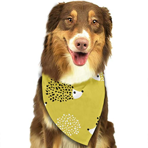OURFASHION Hedgehog Illustration Bandana Triangle Bibs Scarfs Accessories for Pet Cats and Puppies.Size is About 27.6x11.8 Inches (70x30cm). ()