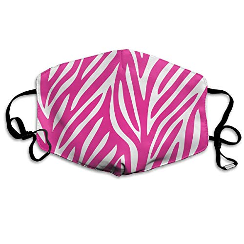 Zebra Print Washable Reusable Safety Mask, Cotton Anti Dust Half Face Mouth Mask for Kids Teens Men Women Lovers Dustproof With Adjustable Ear Loops