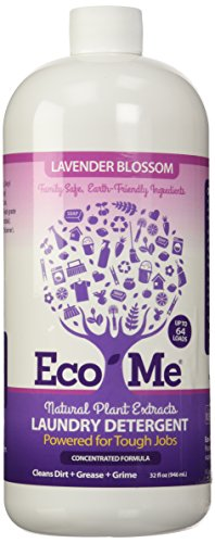 Eco-Me Natural Concentrated Liquid Laundry Detergent, Lavender Blossom, 32 Ounce