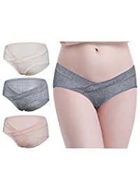 Under Bump Maternity Underpants Low Waist Belly Support Pregnancy Underwear 3PCS