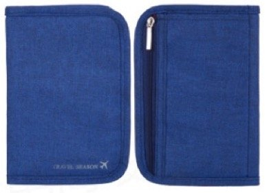 HushGecko(TM) Handy Passport Holder Travel Organizer Wallet Pouch Cover Short (Blue)