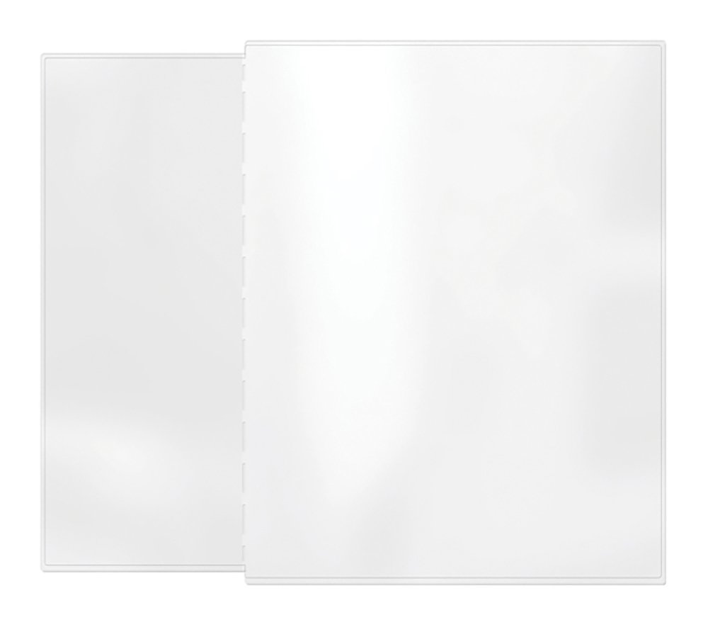 Risch AAP 4.25X11/8.5X11, Pack of 24, Removable pocket providing two additional Viewing sides to your Menu, All Clear vinyl, 4.25'' x 11'' with 8.5'' x 11'' tab