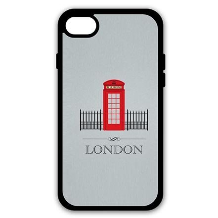 Classy I Love London Telephone Booth Hard Skin Case Cover Shell for iPhone 8-4.7 Inch, Personalised iPhone 8 Phone Slim Carring Cases Funny for Teens ()