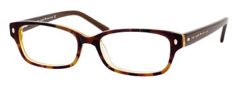 Amazon.com: Kate Spade Lucyann Eyeglasses-0JMD Tortoise Gold -47mm ...