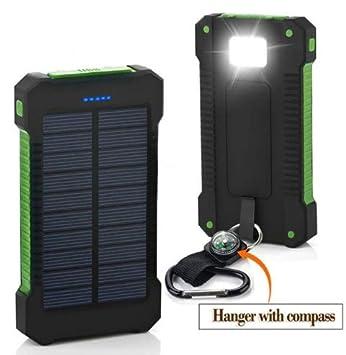Cargador Solar y USB movil Portatil con 30000 mAh Power Bank Bateria Externa 2 Puertos de USB Panel Solar con Alta Eficiencia de Conversión ...