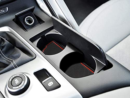 (Auovo Anti dust Mats for Chevrolet Chevy Corvette C7 2014-2019 Interior Accessories Custom Fit Door Pocket Liners Cup Holder Pads Console Mats(6pcs/Set))
