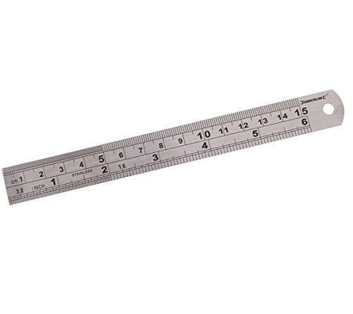 33 opinioni per Silverline MT65 Riga in Acciaio, 150 mm