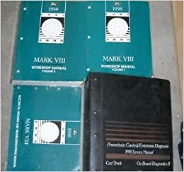 1998 lincoln mark viii service repair shop manual set (service manual 2  volume set, electrical wiring diagrams manual, and the powertrain control  emission