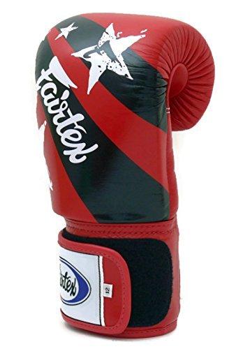 Gants Frappe Boxe Sac Thai De Print Fairtex D'entraînement Kickboxing Nation Style Muay Red AqxzwYwU