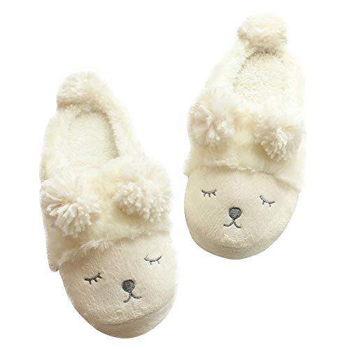 Invernali Peluche Interno Caldo Inverno Home Invernale Cotone Ultra leggero Antiscivolo Da Allaperto Scarpe Uso Pantofole White Per Casa Ciabatte qE4f5x5A