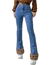 Vrouwen Casual Patchwork Jeans Hoge Taille Y2K Baggy Jeans Brede Been Broek Vintage Printing Denim Jeans Rechte Broek Streetwear