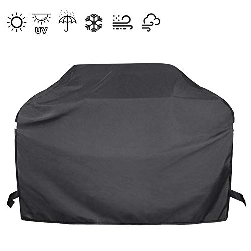 Hisencn 53 Inch Heavy Duty Gas Grill Cover for Dyna-Glo DG400C Premium 4 Burner Grills, Waterproof Outdoor BBQ Cover for Charbroil, Nexgrill Most Grill, All Weather Protection, Fade and UV Resistant