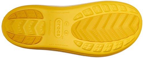 Crocs Damen Crocband Jaunt Regenstiefel Zitrone