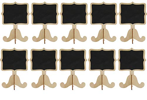 ((10pc) Chalkboard Tabletop Signs with Legs Place Holders Candy Food Dessert Table Setting Mini Sign Party Holiday Wedding Message Memo Board Buffet Food Table Number Name Fancy)