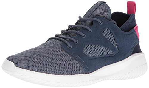Reebok Women's Skycush Evolution Fashion Sneaker, Royal Slate/Collegiate Navy/Rose Rage/White, 8 M US