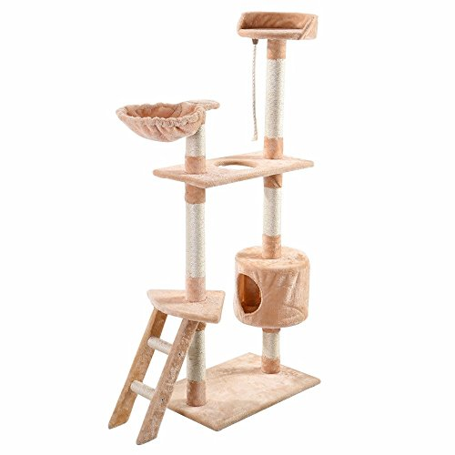 ships-from-usa-60-cat-tree-tower-condo-scratcher-furniture-kitten-pet-house-hammock-beige